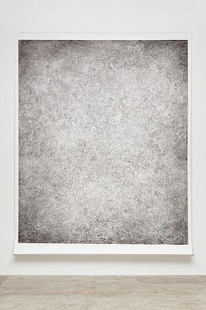 »Granulation« 2015, pigment on paper, 355 x 272 cm