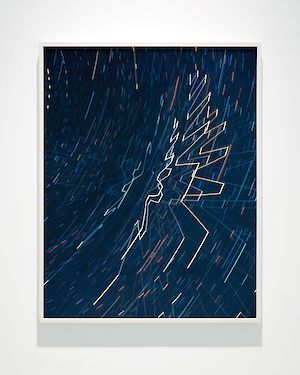 »Starlight Drawing (Track)« 2017 . lightjetprint on dibond . 101.6 x 81.28 cm