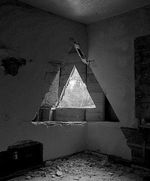 »Two triangles« 2013, archival print on fibre paper, 152 x 122 cm