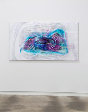untitled (Gravitational Waves) 2015, archival print on wood under resin, 100 x 188 cm