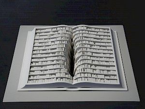»Livre« 2011, mixed media, 16 x 31 x 24 cm