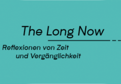 The Long Now - Ausstellungslogo